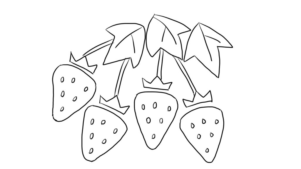 刘坚强儿童简笔画 4-1 草莓
