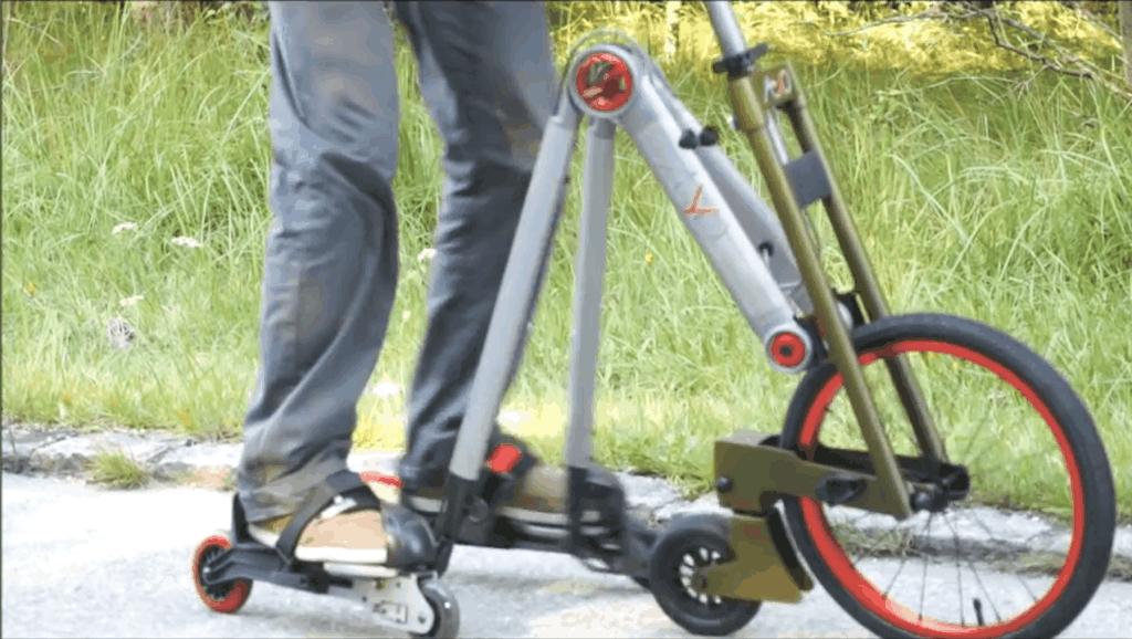 德国发明轮滑自行车,2分钟就能学会,再也不怕摔倒了