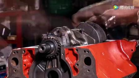 要报废的老福特皮卡发动机翻新,动力不输新车!
