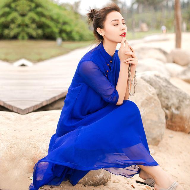 """姑娘不要穿韩版了, """"改良汉服""""才是17年的流行趋势, 优雅大方 13"""