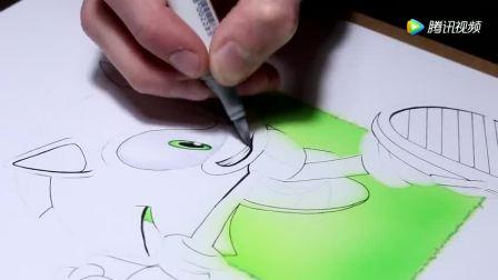 看卡通动漫刺猬索尼克, 如何在外国手绘大神画笔下重现