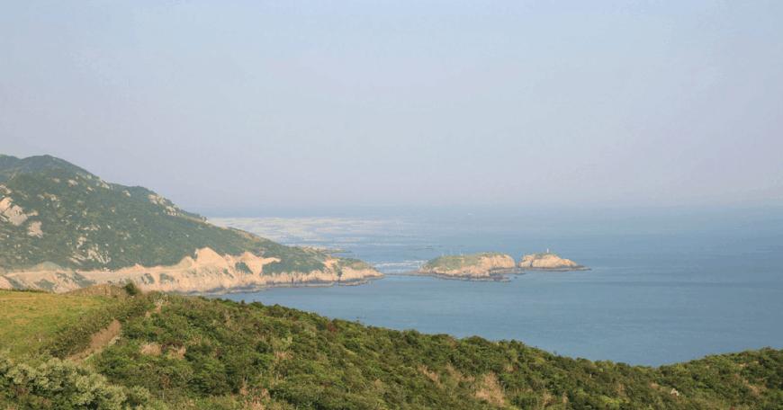 枸杞岛海山牧场东崖绝壁后头湾山海奇观印象 后头湾村坐落在嵊泗县