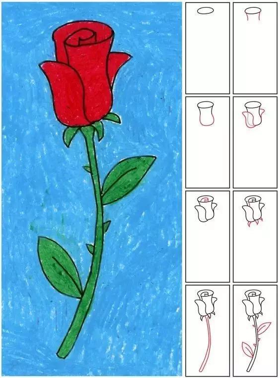 儿童简笔画大全: 花卉,树木,树叶的画法都有了