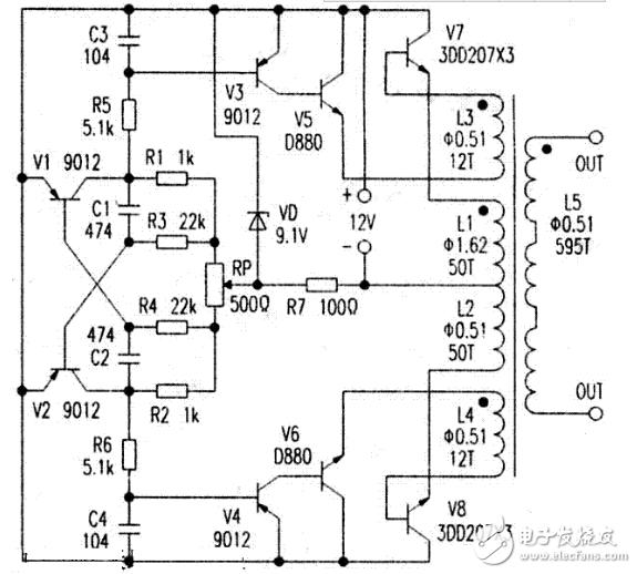高效率正弦逆变器,逆变器前级升压电路图_|低成本高