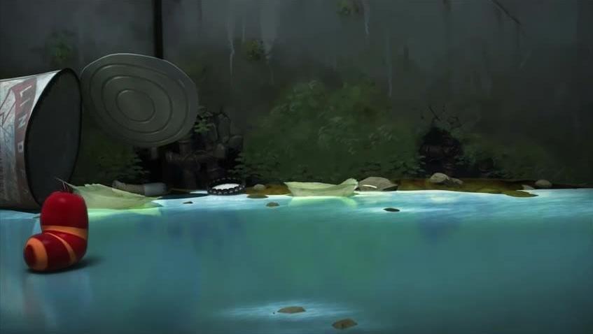 爆笑虫子: 大黄小红贪玩,被冰块冻住动弹不得