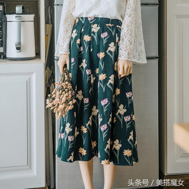 印花半身裙_繁花盛开的夏天, 8款印花半身裙奔三奔四的女人穿甜美又减龄