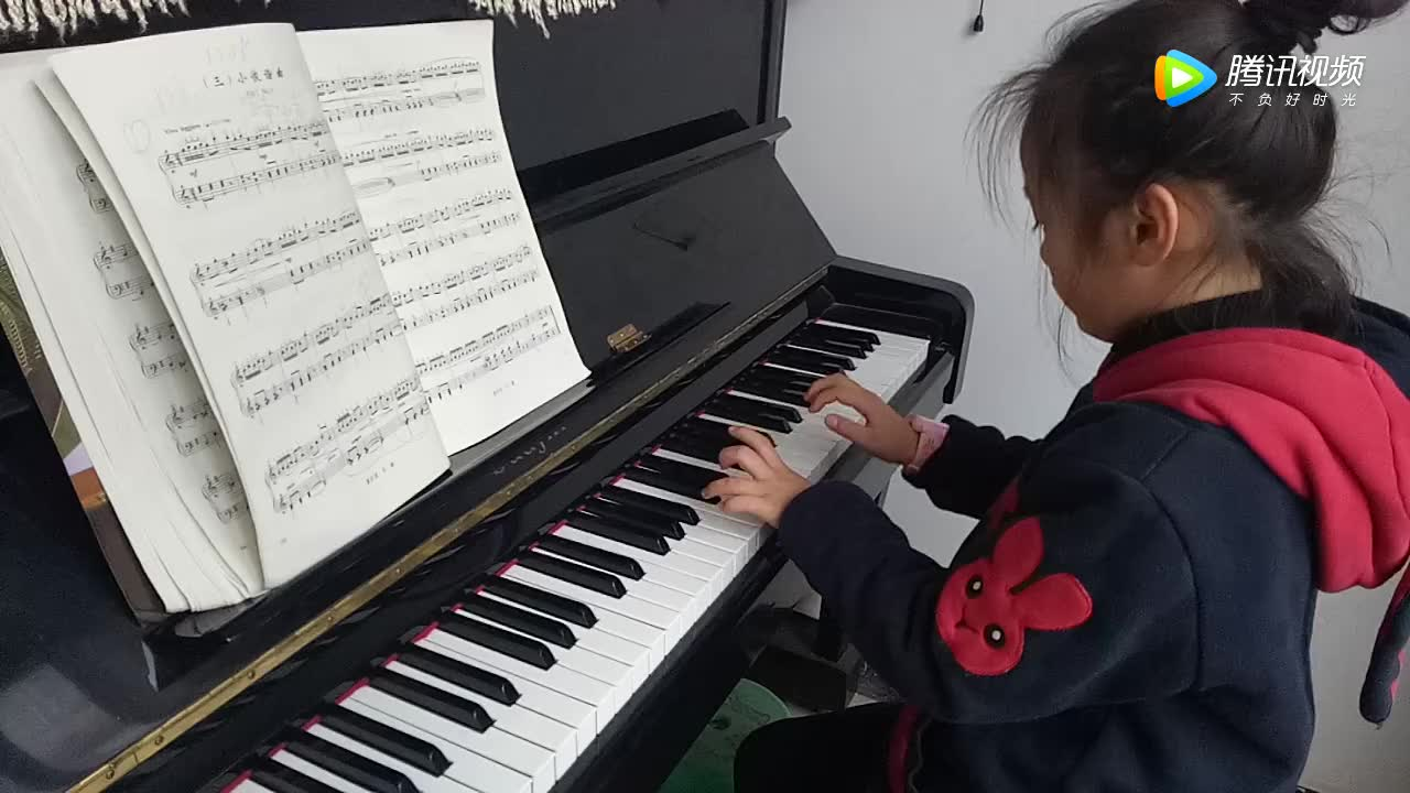 级 钢琴简谱 扎红头绳钢琴曲