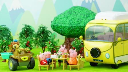 海底小纵队之谢灵通帮小猪佩奇修理露营车