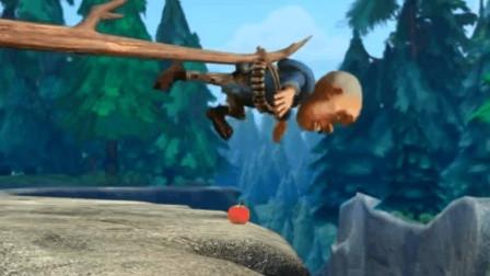 熊出没之环球大冒险: 熊大熊二脑洞大开,合理利用光头强拿苹果!