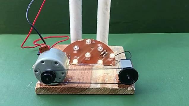 自制电池,再通过复杂的转换点亮Led,多此一举