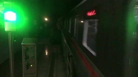上海地铁辐射眼列车-汉中路站出站