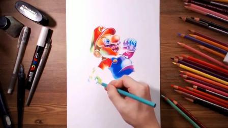 画家笔下的超级玛丽 让你回忆童年的游戏