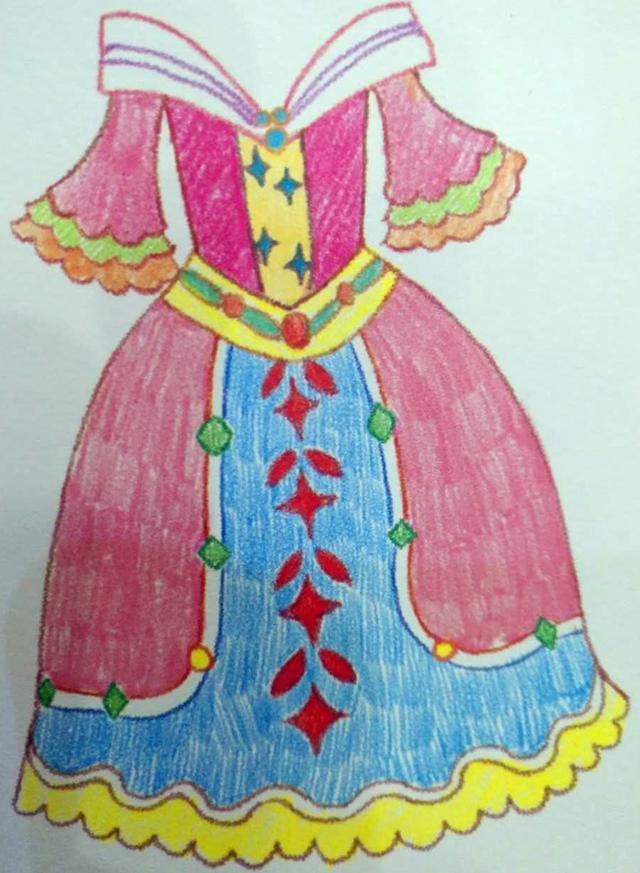 女儿喜欢画画,尤其喜欢画公主啦,华丽的皇冠啦,漂亮的公主裙啦!图片