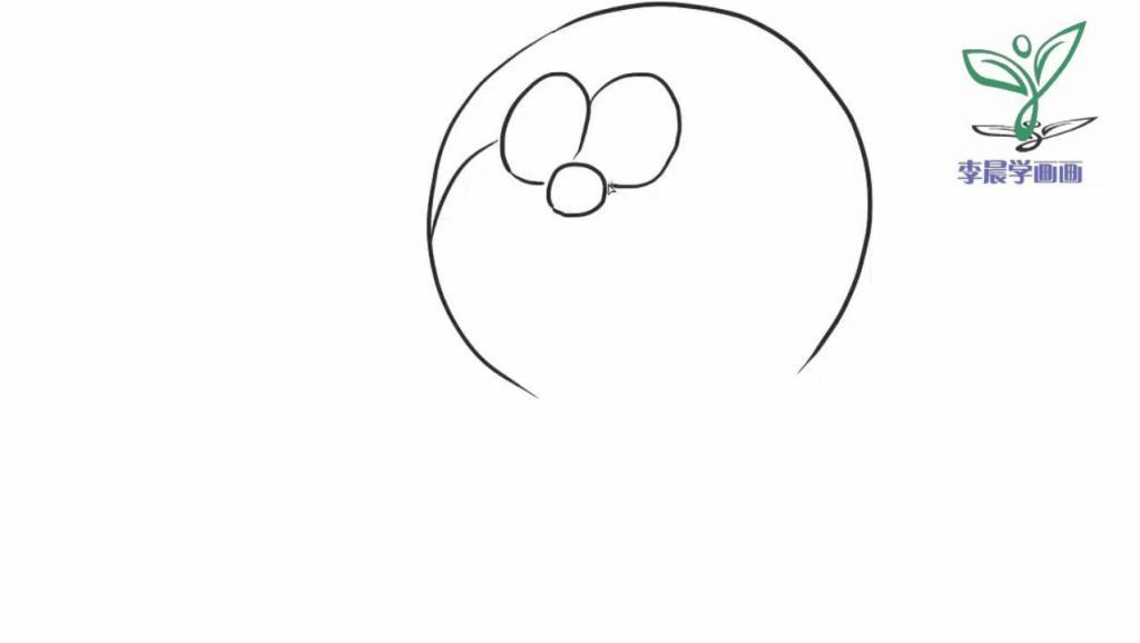 绘画动画片 哆啦a梦 中的机器猫吃铜锣烧卡通动漫简笔画教程图片