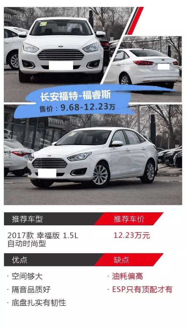 为何这几款10万左右的合资汽车品牌销量不错