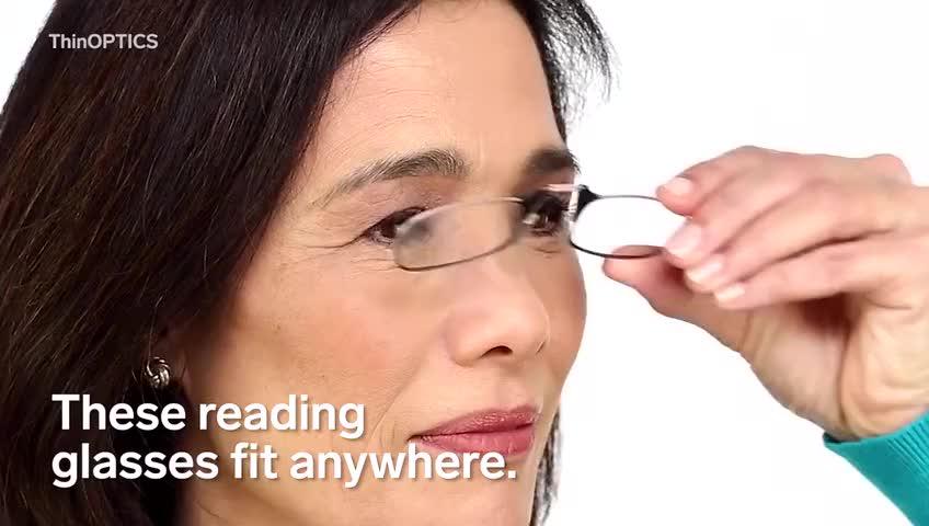"""没有""""腿""""的眼镜,可以藏在手机壳里,非常小巧方便"""