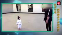 韩国3岁小萝莉学习跆拳道,30秒萌晕跆拳道老师