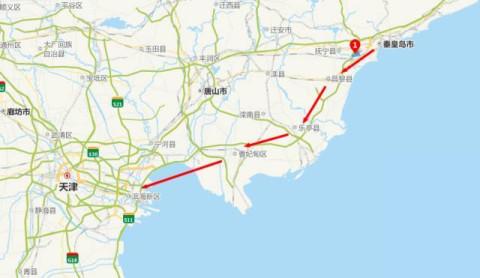 具体线路:秦皇岛北戴河→唐山→曹妃甸→天津海滨大道