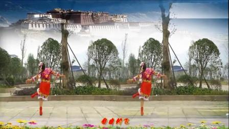 夫妻广场舞《太阳姑娘》原创附分解 圣诞节献礼附背面教学