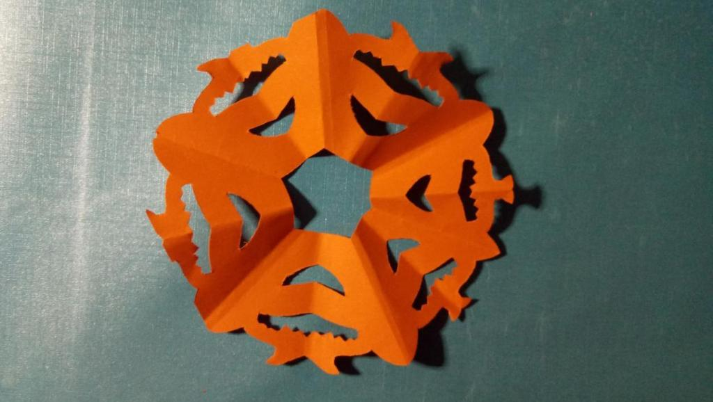 打开 打开 高级剪纸: 六角折剪,11家有萌宝学剪纸-雪花.