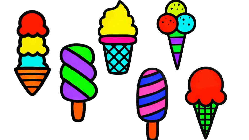 打开 打开 幼儿早教简笔画,简单易学的缤纷冰淇淋简笔画教程,超简单