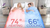 这条被子不仅能够智能控制温度,还能自己折叠,省了不少事