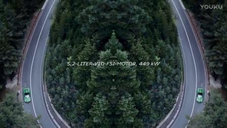 最快绿色闪电侠奥迪R8 Spyder V10 plus