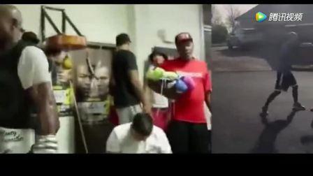 著名拳王迈克泰森的拳击训练, 看着这速度就怕