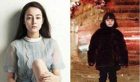 同框左右的她相比起来,小时候的热巴长的比较可爱的一点,全身黑裹得