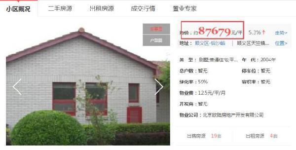 """而是一栋位于北京顺义中央别墅区里的名为""""欧陆苑""""的"""