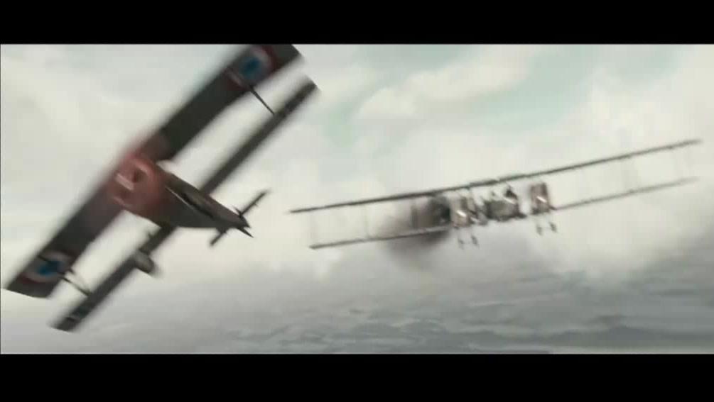 一战法国空军截击德国轰炸机编队,场面激烈