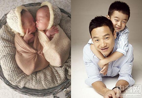 杨云带子女练体操 双胞胎女儿萌化人心