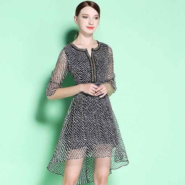 真丝半身裙_说不尽真丝的柔情, 真丝雪纺裙让三十岁的你更加高贵大方