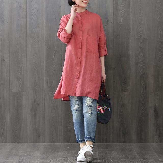 棉麻T恤+牛仔哈伦裤, 50岁的妈妈买了两套, 时尚也更年轻了 5