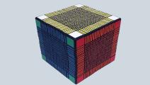 这个世界上最大的3D打印魔方木有之一?到底有多大呢