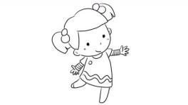 正在跳舞的可爱小女孩亲子绘画儿童简笔画视频 宝宝轻松学画画