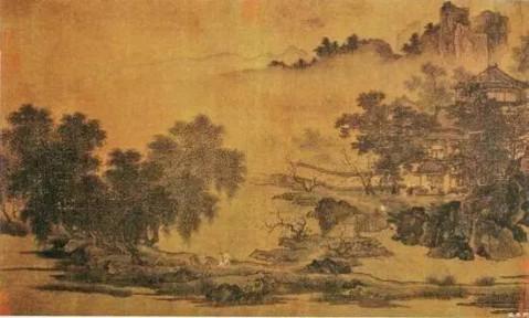 常画西湖,多写茂林修竹,山明水秀之西湖胜景.