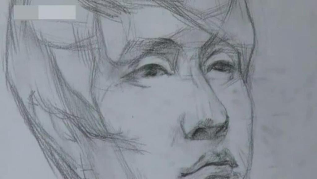 杨洋简单帅气铅笔画