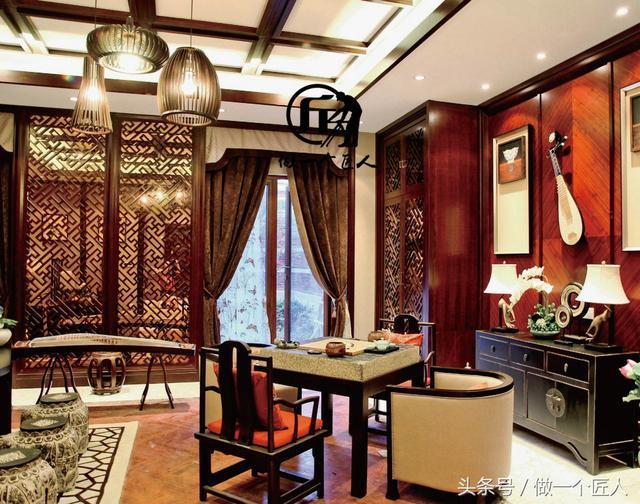 150平中式风格实景设计分享之琴房