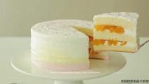 吃了会招桃花的蛋糕: 盛夏桃子蛋糕