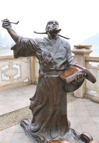 清朝员外爷会客雕塑