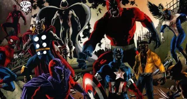 当美国队长,钢铁侠,绿巨人,蜘蛛侠化身丧尸英雄会怎样图片