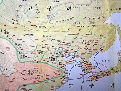 韩国历史地图标明日本曾经是韩国的藩属国