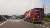 SUV遇上大货车,捡回一条命啊