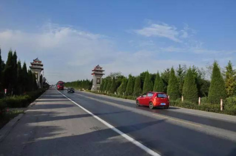 """乘坐专线车,一路沿着""""陕西最美乡村公路""""岐山周五路,欣赏沿路迷人风景"""