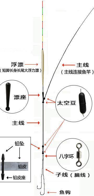 浮钓鲢鳙调漂技巧和线组图解