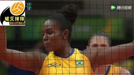 巴西黑塔法比安娜拦死张常宁后朝天怒吼, 朱婷: 别慌, 老娘给你复仇!