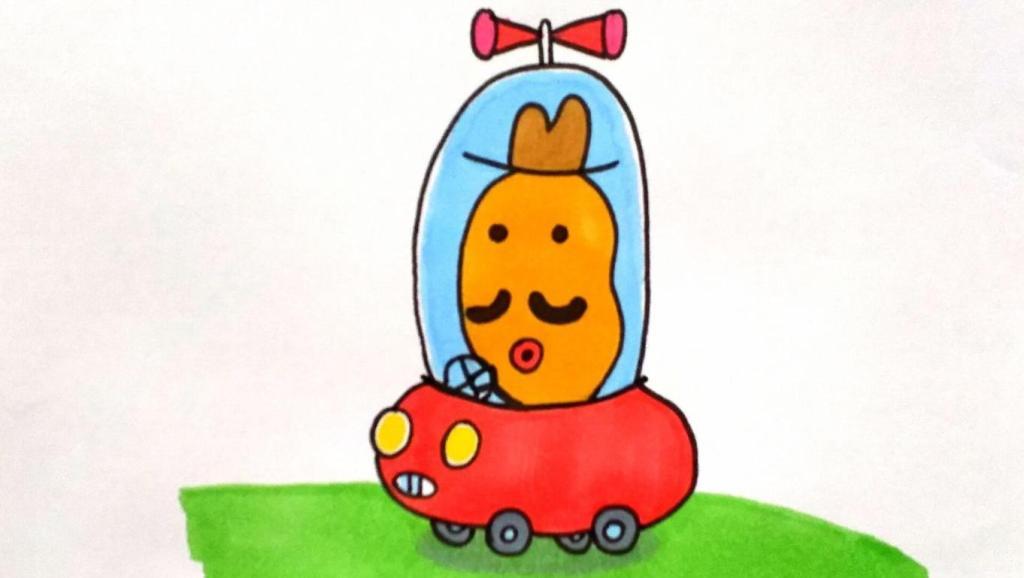 儿童绘画马克笔教程大全 打开 宝宝爱画画第106课 小猪佩奇土豆先生