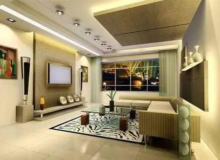 2017年客厅瓷砖背景墙装修效果图