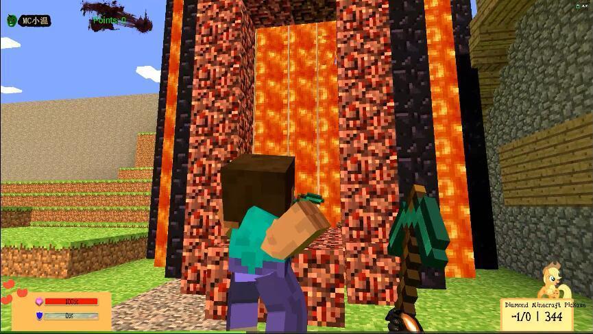 《我的世界》四扇传送门组合的地狱之门